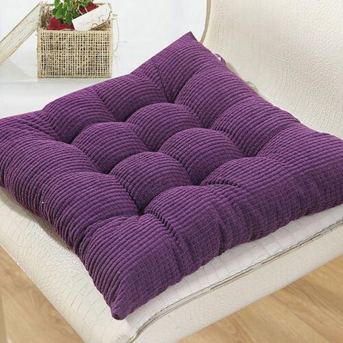 "18/""x18/"" Square Corduroy Chair Pad Thicker Cushion Home Sofa Office Seat Mat"