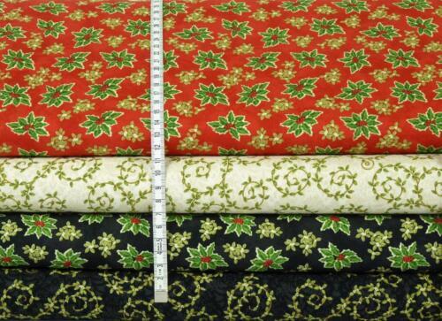 Invierno Bliss Ilex patchwork sustancias weihnachtsstoffe sustancias navidad patchwork