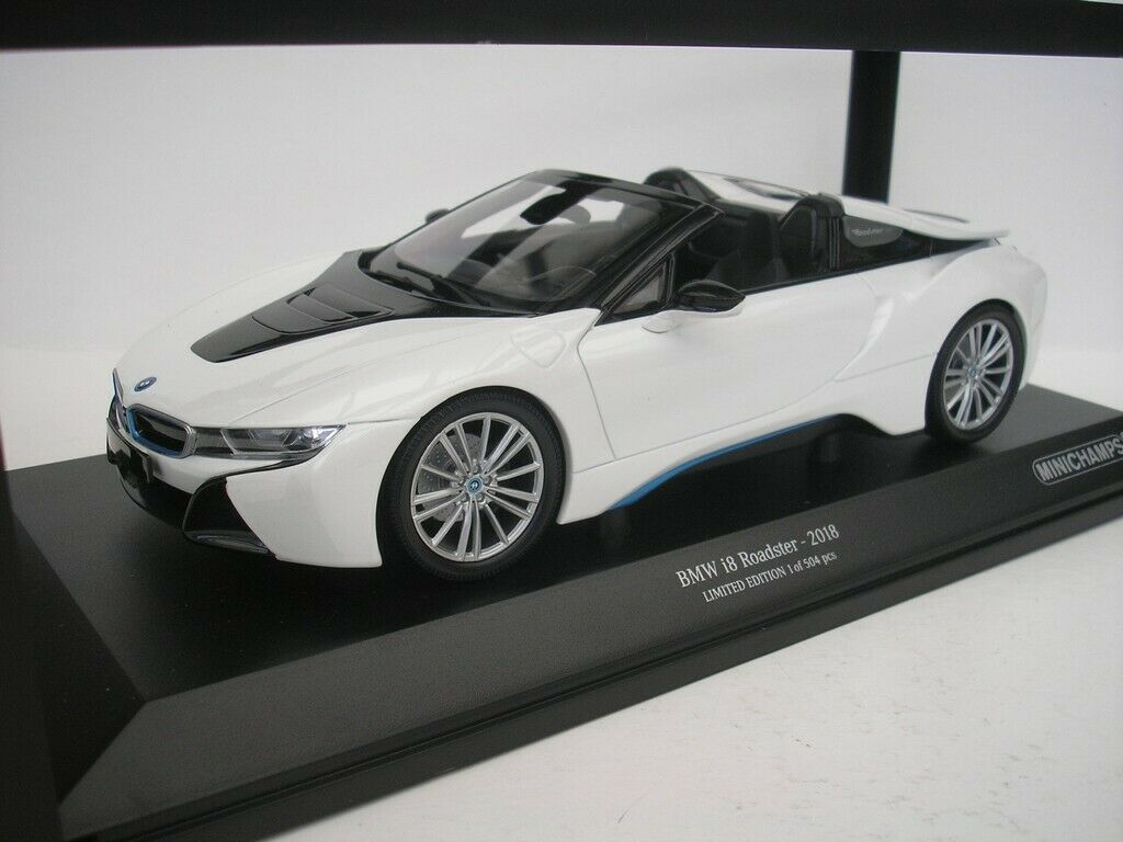 BMW i8 Roadster 2018 Blanc METALLIC 1 18 MINICHAMPS 155027031 NEUF