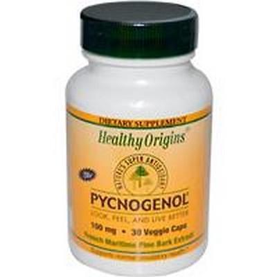 Pycnogenol, 100mg x 30VCaps, Non-GMO, Healthy Origins, Uk Stocks, 24Hr Dispatch