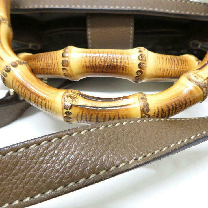Gucci Diana Canvas Flower Bamboo 2Way Hand Should… - image 4