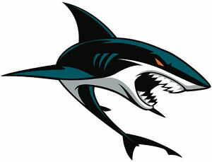 San jose sharks nhl color die cut decal car sticker for San jose sharks coloring pages
