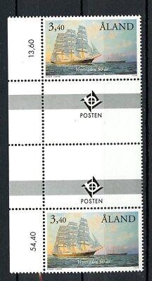 Clever Aland Gutter Pair Mnh #156 Grain Ships Cape Horn Tall Ships 1999 H075