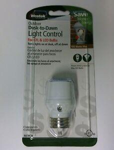 NEW Westek SLC5BCW 4 On Off Light Dusk To Dawn Light Control For CFL LED Bulb