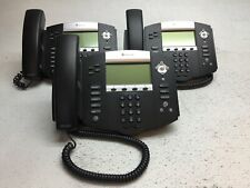 Lot Of 3 Polycom Soundpoint Ip550 Business Phones With Handsets Amp Stands