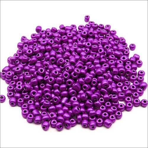 Lot de 20g Perles de Rocailles en verre Opaque 4mm Mauve Environ 250pcs