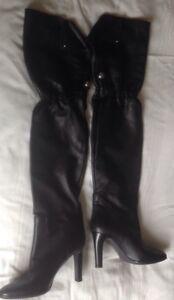 bf3ebb60d4c BNWOB Karen Millen Black Leather Tall Knee High Boots Size : 38 - 5 ...