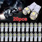 20pcs Side parking light super bright white Car 5 SMD LED bulb 5050 T10 xenon BA