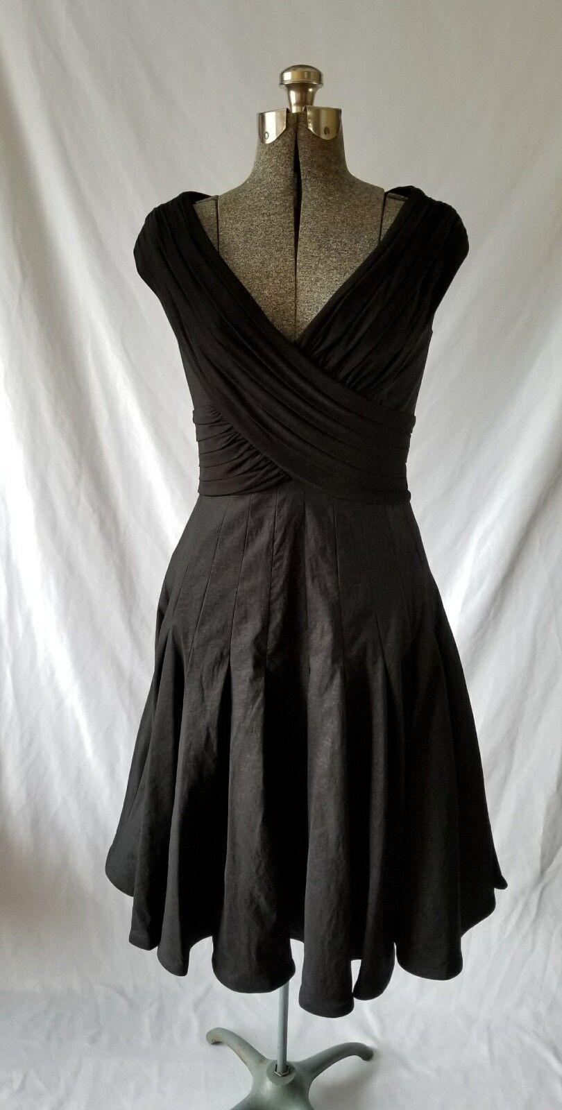Adrianna Papell schwarz damen Pleated A-Line Off The Shoulder Dress Größe 8