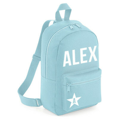 Personalised Grey Name /& Star Toddler Kids Childs BackPack School Swimming Bag