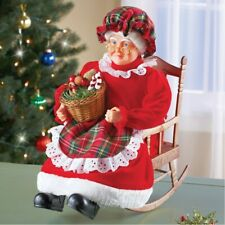 Animated & Musical Mrs Claus In Rocking Chair Collectible Christmas Decoration