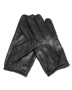Mil-tec Handschuhe Aramid Leder Schwarz Lederhandschuhe Schutzhandschuhe M-xxl