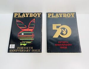 Playboy Collector's Edition 40th(1994) & 50th(2004) Anniversary Issue Magazines