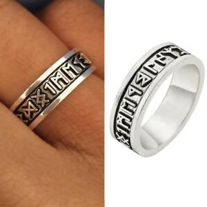 Manner Viking Ringe Custom Rune Brief Ring Hochzeit Nordischen