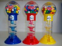 10.5 Gumball Dubble Bubble Machine Gum Balls Gift Toy + 2oz Gum A Spiral