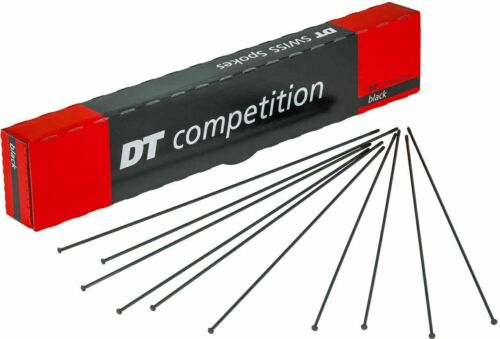 Qty:8 DT Swiss Competition Straight Pull 14 1.8 mm Spoke Black 15 G = 2