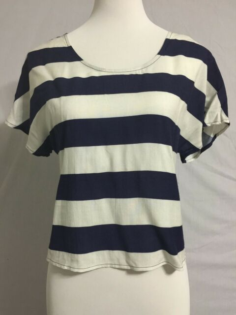 4d9e7b957 NEW Urban Outfitter Pins And Needles Striped Sailor Style Top Tee Size M 6-8