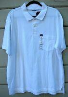 St. John's Bay White Jersey Knit S/s Polo Casual Shirt Men's Xl