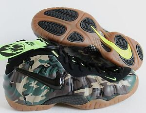 reputable site fe3f0 231d5 Image is loading NIKE-AIR-FOAMPOSITE-PRO-PRM-LE-CAMO-FOREST-