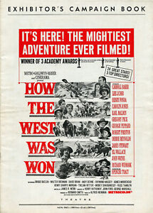Original-HOW-THE-WEST-WAS-WON-1964-M-G-M-ALL-STAR-CAST-Uncut-Unfolded