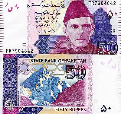 PAKISTAN 50 Rupees Banknote World Paper Money UNC Currency Pick p-56k Ali Jinnah
