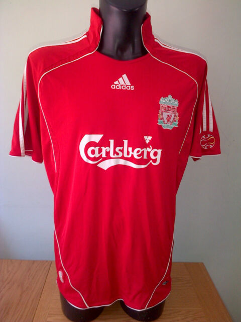 Liverpool Football Home Shirt Top Jersey CARLSBERG ADIDAS Mens LARGE