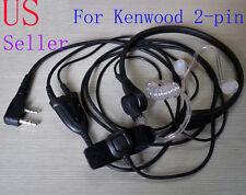 Throat Mic Earpiece Headset Headphone PTT Baofeng UV5R Kenwood 2-pin Type