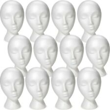Less Than Perfect Mn 324 12 Pcs Female Abstract Styrofoam Mannequin Head