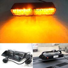 16 LED 18 Modes Interior Roof Emergency Hazard Warning Strobe Flash Light Amber