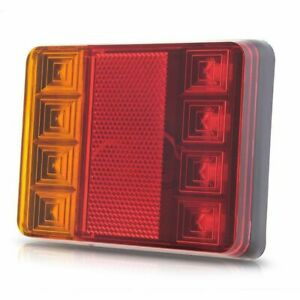 8-LED-DC12V-Waterproof-Taillights-Rear-Tail-Light-For-Trailer-Truck-Boat-A3F4