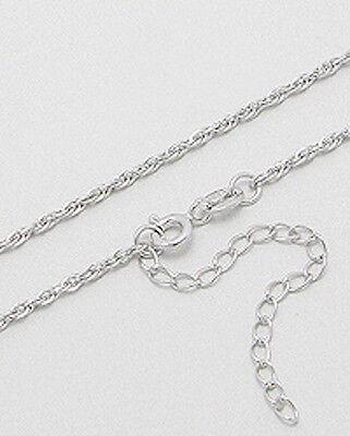 "Italian 2g Solid Sterling Silver 18/"" Braided Chain 1.3mm Stylish 960 45cm"