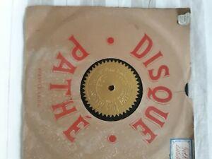 Anciens Disques Pathé fibro-ciment pour phonographe 80-100 trs