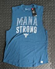 "1326385-918 Under Armour Project Rock /""Mana Strong/"" Blue Sleeveless Tshirt XXL"