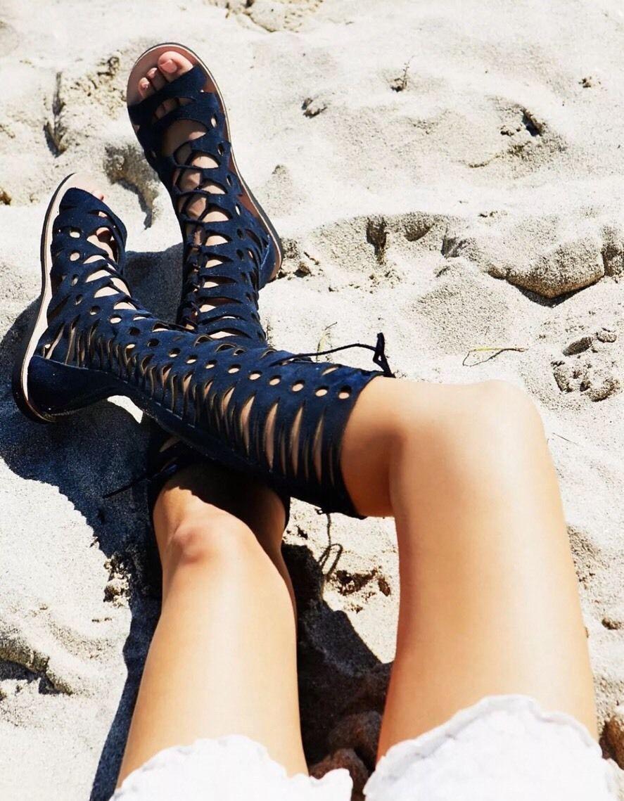 Jeffrey Campbell x Free People  248 Valencia Tall Gladiator Sandal Size 6