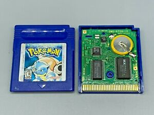 Pokemon Blue Version Nintendo Game Boy Authentic Tested! NEW SAVE BATTERY #@