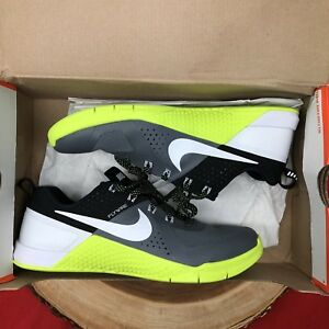 138f821d82a8 Nike Metcon 1 Size 7 Dark Grey Volt 704688 007 Crossfit Training Air ...