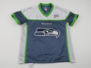 Boys Kids Seattle Seahawks Flag NFL Football Jersey Youth Large (12 ... 45133dd6ea0