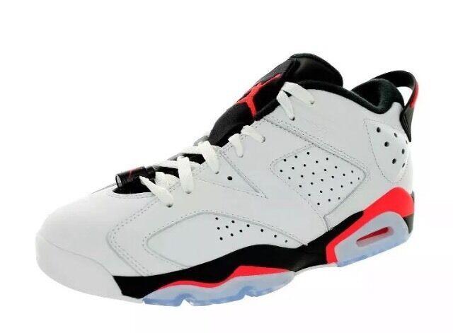 Nuove nike air jordan 6 retrò scarpe basse da uomini bianchi 304401-123 sz basket