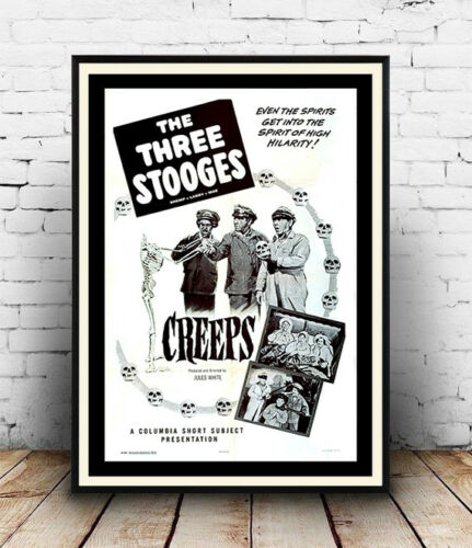 Three Stooges Old Film Poster reproduction Creeps