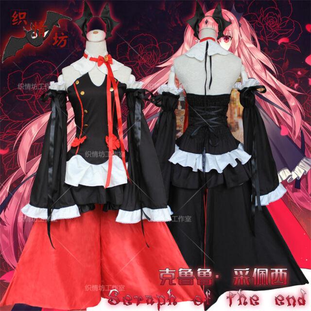 Seraph of the end Krul Tepes Cosplay Lolita Dress Anime Vampire Costume  Uniform 1fd0e21cc335