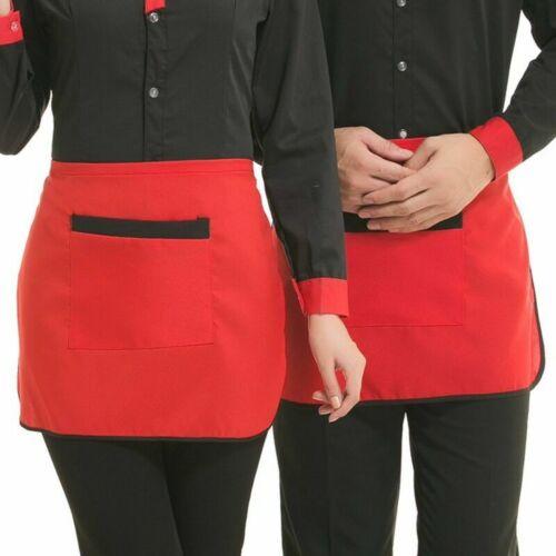 Short Half Restaurant Pub Waist Apron with Pocket Chef Waiter Waitress Cafe Pub