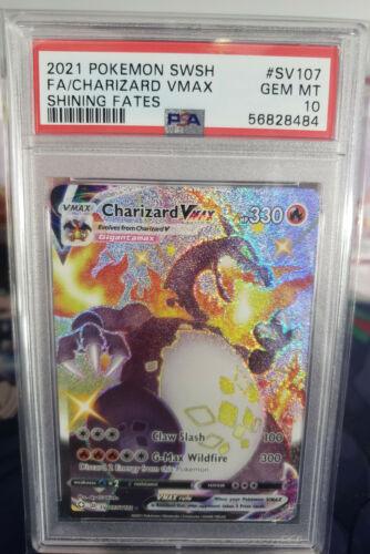 Pokemon: Shining Fates - Charizard VMAX SV107 Secret Rare - GEM MINT PSA 10