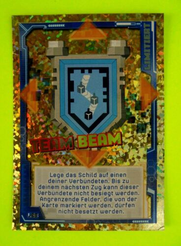Lego Nexo Knights LE 8 Team Beam Schild Limited Edition Trading Card Game