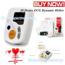 12 canales ECG /EKG Holter, monitorización del ritmo cardíaco de 48 horas, OLED