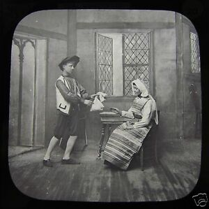 Glass Magic Lantern Slide COAL MUNK PETER NO20 C1890 WILHELM HAUFF FAIRYTALE - Cornwall, United Kingdom - Glass Magic Lantern Slide COAL MUNK PETER NO20 C1890 WILHELM HAUFF FAIRYTALE - Cornwall, United Kingdom