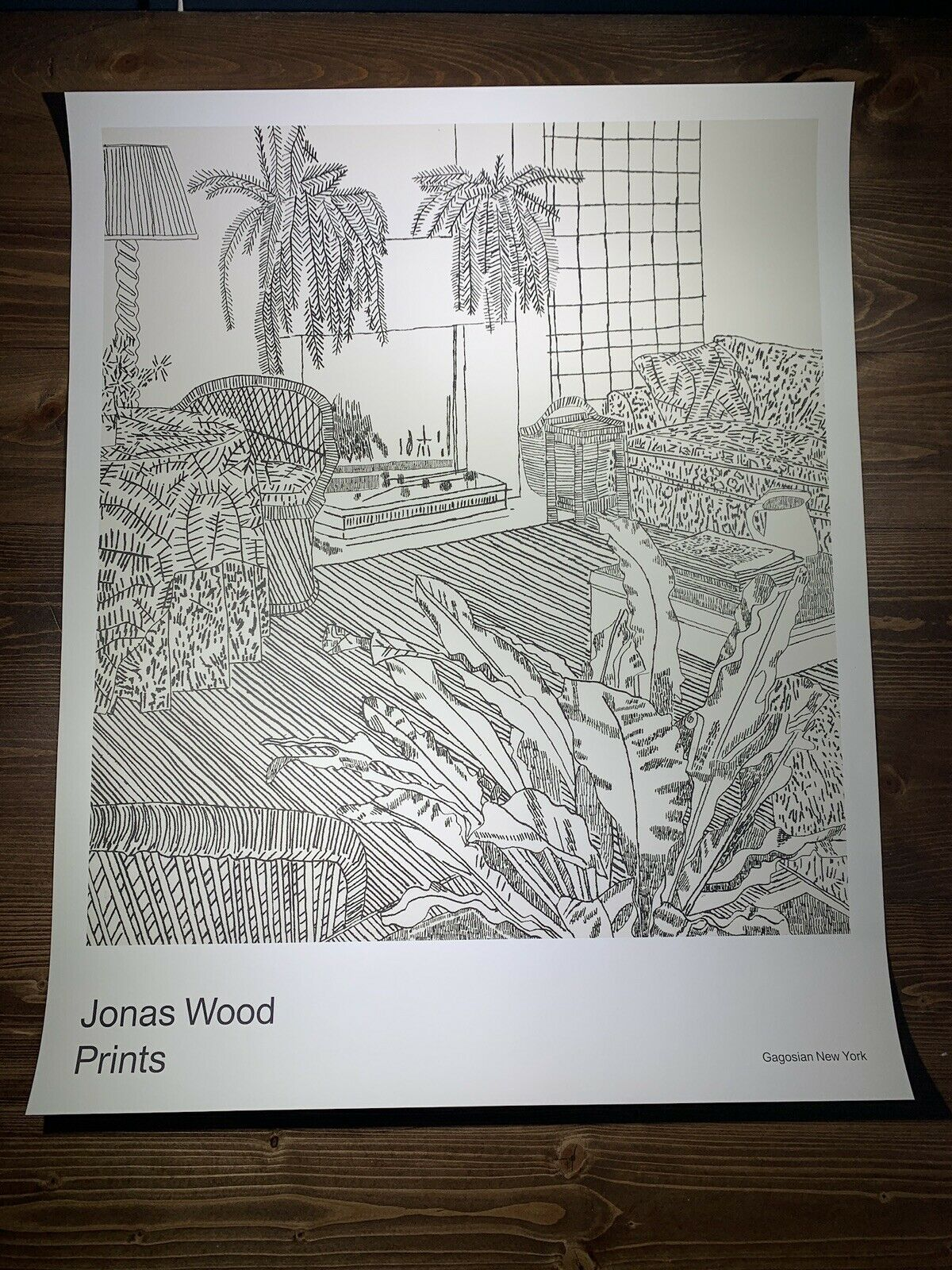 "Jonas Wood ""Prints"" Art Print Poster 2018 Black & White Interior Landscape Vote on eBay thumbnail"