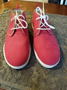 28cd4e8aeb2 Details about Size 18 UGG Men MAKSIM CANVAS CHUKKA shoes 1019023 Red White  no tags no box new