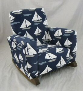 more photos 50402 321a3 Details about New Children's Upholstered Rocking Chair Cape May Indigo  Toddle Rock for Kids