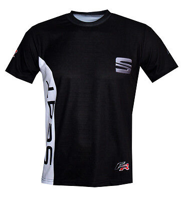 Seat sport car quality logos and graphics men's t-shirt