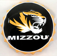 Mizzou Tigers Missouri Metal Bottle Top Sign 19 Diameter Made In The Usa